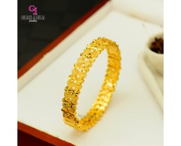 GJ Jewellery Emas Korea Bangles - Love Pasir Kikir Double | Hook (5566031)