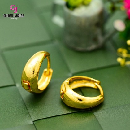 GJ Jewellery Emas Korea Earrings - Bulat Licin Tebal (6962213)