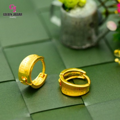 GJ Jewellery Emas Korea Earrings - Bulat Licin Tebal | Maze (6962315)