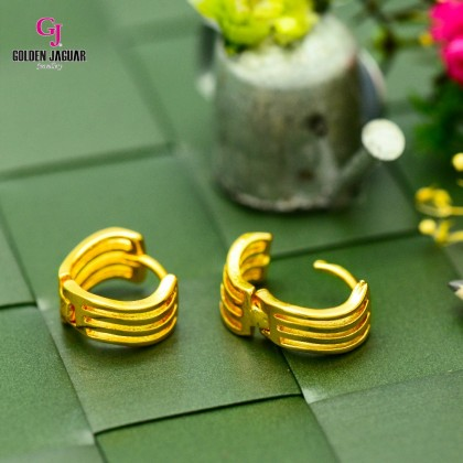 GJ Jewellery Emas Korea Earrings - Waves (6962219)