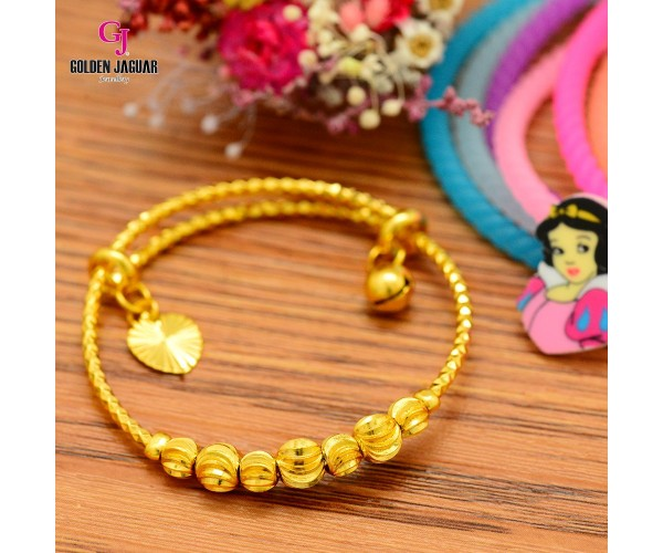 GJ Jewellery Emas Korea Bangles - Bulan Sabit Series | Kids | Adjustable (9265802)