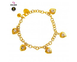 GJ Jewellery Emas Korea Bracelet - Kendi Polo + Love Mix | 5.0 (2680529-1)