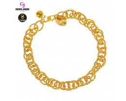 GJ Jewellery Emas Korea Bracelet - Kendi Polo Double | 7.0 (2660712)