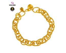 GJ Jewellery Emas Korea Bracelet - Kendi Polo Double | 8.0 (2660812)