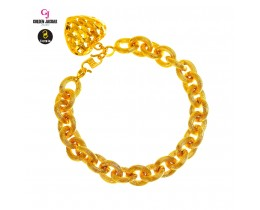 GJ Jewellery Emas Korea Bracelet - Sauh Kikir +  Love Hollow | 10.0 (2661021-4)