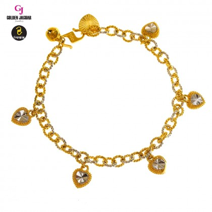 GJ Jewellery Emas Korea Bracelet - Kendi Polo + Love Mix | 5.0 (2680529-0)