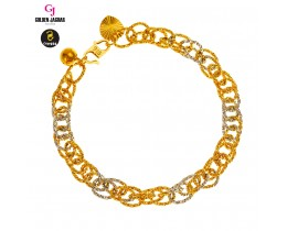 GJ Jewellery Emas Korea Bracelet - Kendi Polo Double Mix | 9.0 (2680912)