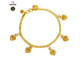 GJ Jewellery Emas Korea Anklet - Papan + Love 3D (3560322-0)