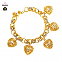 GJ Jewellery Emas Korea Bracelet - Audi Kikir + Love Hollow Mix | 10.0 (2681004-4)