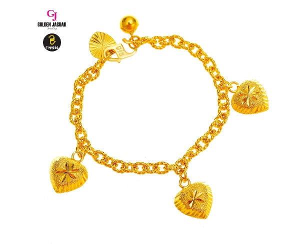 GJ Jewellery Emas Korea Bracelet - Kendi Polo + Love | Kids | 4.0 (9660429-2)