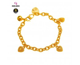 GJ Jewellery Emas Korea Bracelet - Kendi Polo + Love Pasir | Kids | 4.0 (9660429-0)