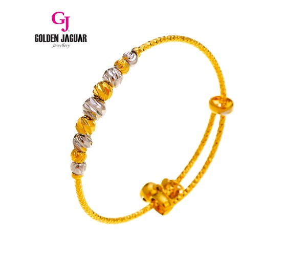 GJ Jewellery Emas Korea Bangle - Bulan Sabit Mix | 9 | Kids | Adjustable (9285503)