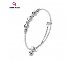 GJ Jewellery Emas Korea Bangle - Bulan Sabit + Bebola Disko | Kids | Adjustable (9275804)