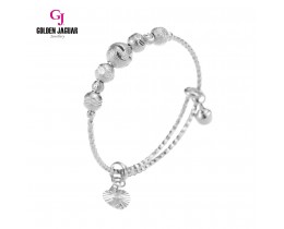 GJ Jewellery Emas Korea Bangle - Bulan Sabit + Bebola Pasir Kikir | Kids | Adjustable (9275805)