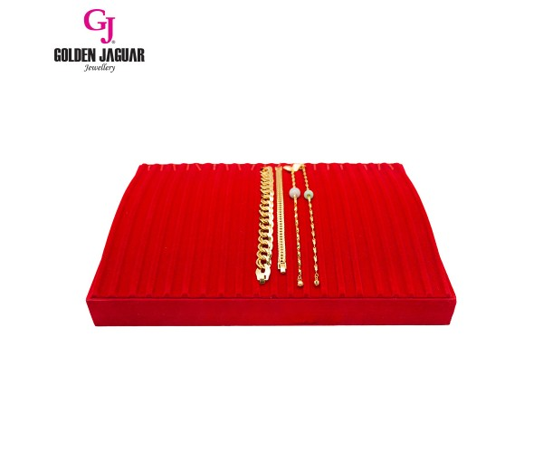 GJ Jewellery Anklet Display Tray - Red