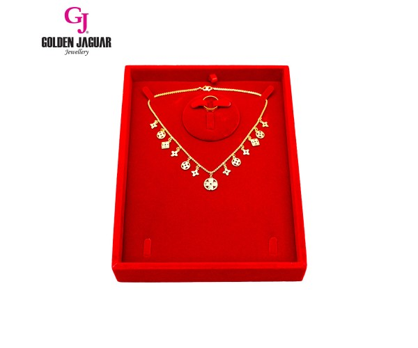 GJ Jewellery Necklace Display Tray - Red